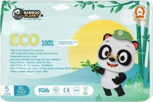 Scutece copii Bamboo Planet marimea 5 (XL)12 kg - 32 buc.