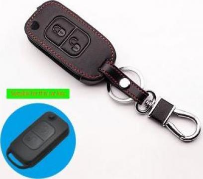 Husa piele cheie Mercedes W202 W203 W168 Vito SLK E113 2 but de la Caraudiomarket.ro - Accesorii Auto Dedicate