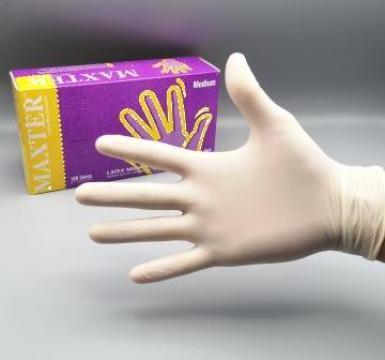 Manusi examinare Latex nepudrate, 100 buc. de la Ald-import Ltd.