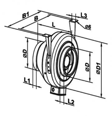 Ventilator centrifugal 250