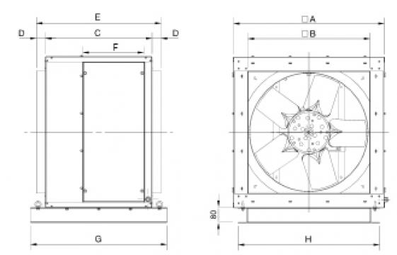 Ventilator 4 poli CHGT4-800-9/-2,2