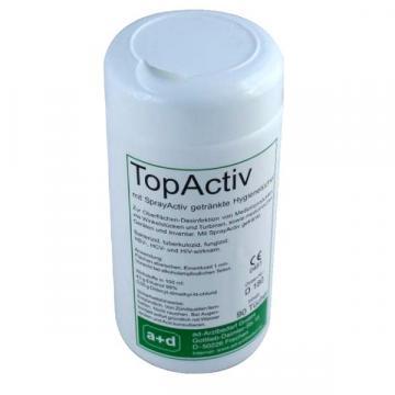 Dezinfectant suprafete Topactiv servetele umede - flacon