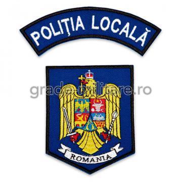 Emblema Politia Locala, brodata, varianta 7 de la Hyperion Trade