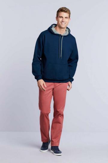Bluzon Heavy Blend Adult Contrast Hooded Sweatshirt de la Top Labels