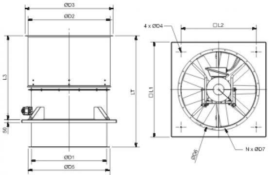 Ventilator HGTT-V/4-1000
