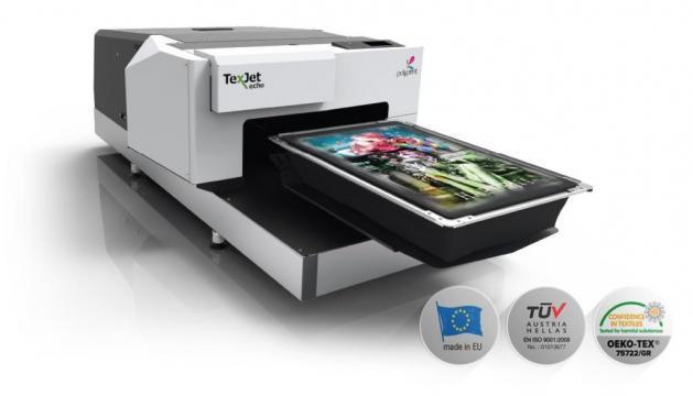 Imprimanta DTG Polyprint Texjet ECHO2 de la R&A Line Trade SRL