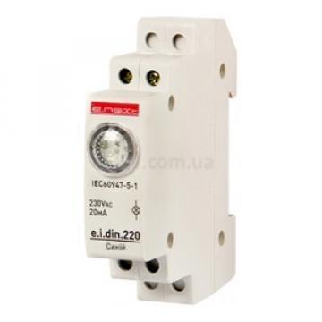 Siguranta automata indicator LED pt sina DIN 230V, alb