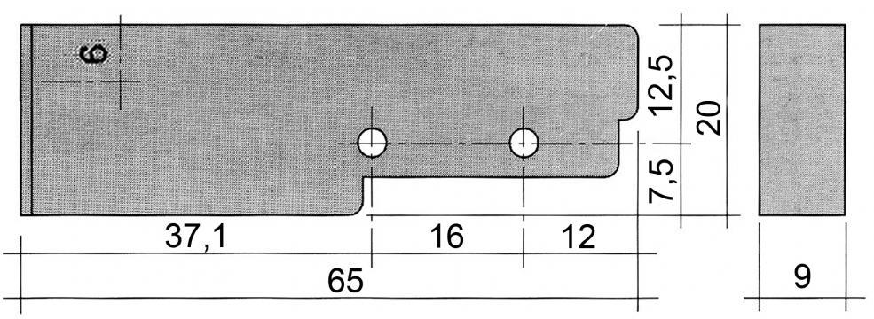 Intrerupator (senzor) magnetic 65mmx20mm, 1NO