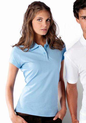 Tricou Ladies' Short Sleeve Pique Polo Shirt de la Top Labels