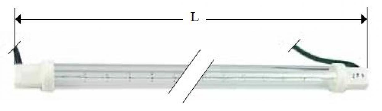Lampa infrarosu, 230V, 765W, L640mm de la Kalva Solutions Srl