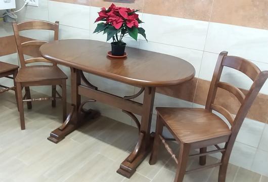 Masa cu elemente curbate dublu Pedestal si scaune MD106