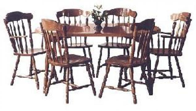 Masa dining extensibila 260 cu 6 scaune CY9