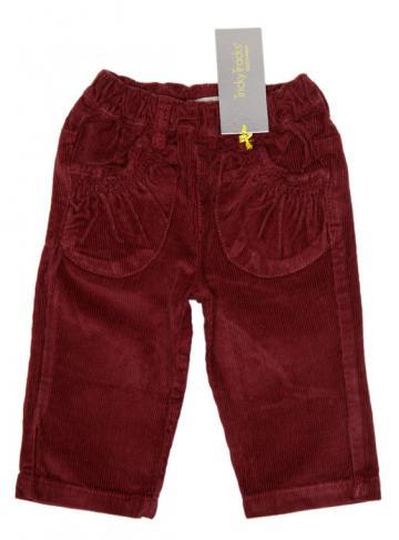 Pantaloni reiat bebelusi, bordeaux, fete