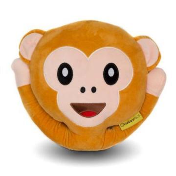Perna decorativa Emoji Maimuta Happy Face de la Mobilab Creations Srl