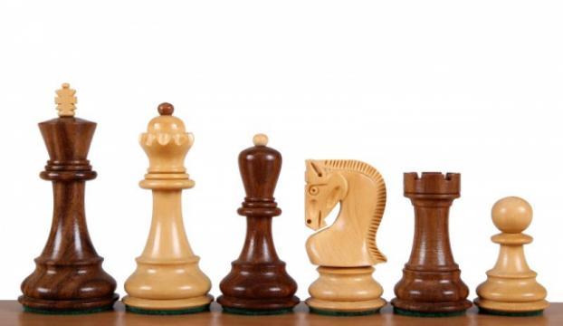 Piese sah lemn Staunton 5 - design Zagreb de la Chess Events Srl