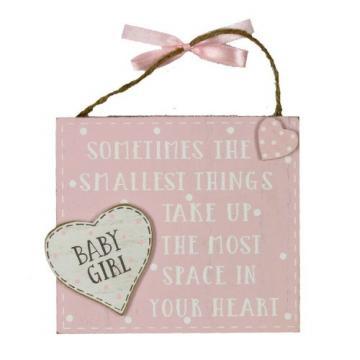 Placuta cu mesaj Baby Girl Petit Cheri