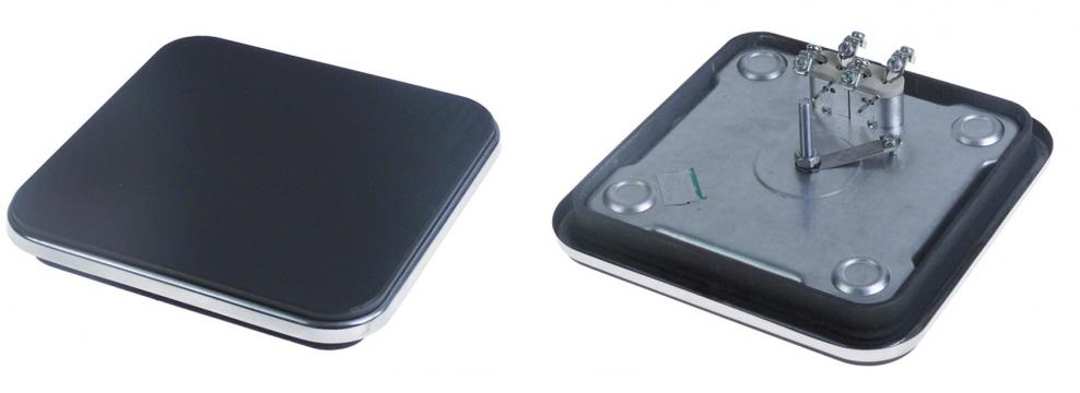 Plita electrica patrata 220x220mm, inel exterior inox