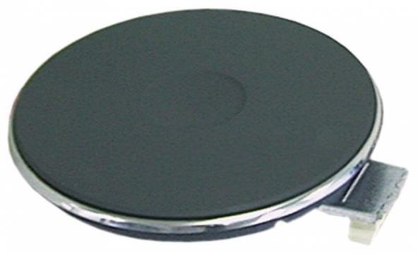 Plita electrica rotunda cu inel exterior inox, 180mm