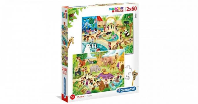 Puzzle Clementoni 2 X 60 piese - Gradina zoologica de la Pepita.ro
