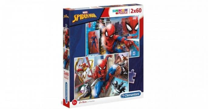 Puzzle Clementoni 2 x 60 piese - Spiderman de la Pepita.ro