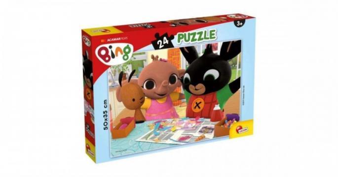 Puzzle din 24 piese Bing si prietenii Lisciani de la Pepita.ro
