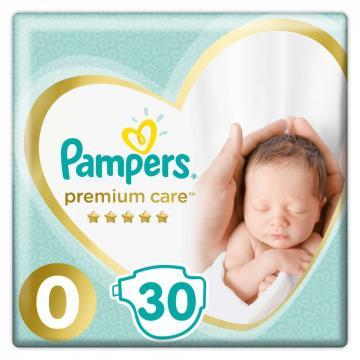 Scutece Pampers Premium Care 0-3kg Noi-nascuti (30buc)
