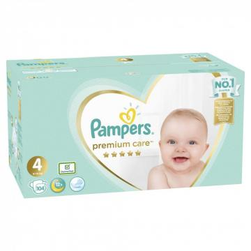 Scutece Pampers Premium Care Mega Box 9-14kg Maxi 4 (104buc)