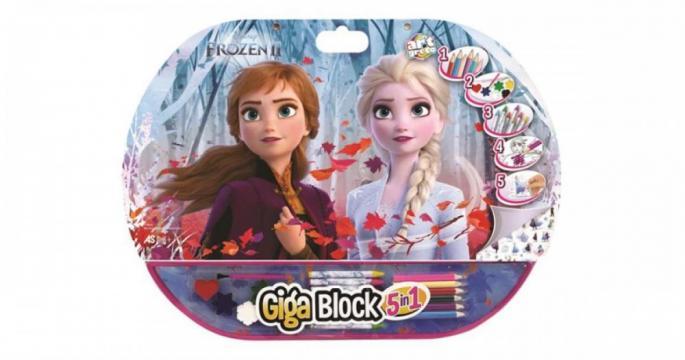Set pentru desen 5 in 1 Gigablock Frozen2 de la Pepita.ro