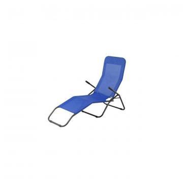 Sezlong plaja Strend Pro Jamaica, albastru, 140x60x96 cm de la Sc Victor Optimus Srl
