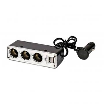 Stecher triplu cu USB x 2 - 3.1A - All Ride