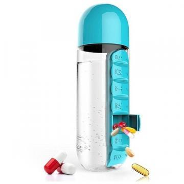 Sticla de apa cu organizator pentru medicamente si vitamine de la Startreduceri Exclusive Online Srl - Magazin Online - Cadour
