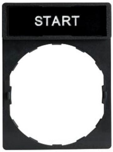 Suport 30x40mm cu legenda Start 8x27mm de la Kalva Solutions Srl