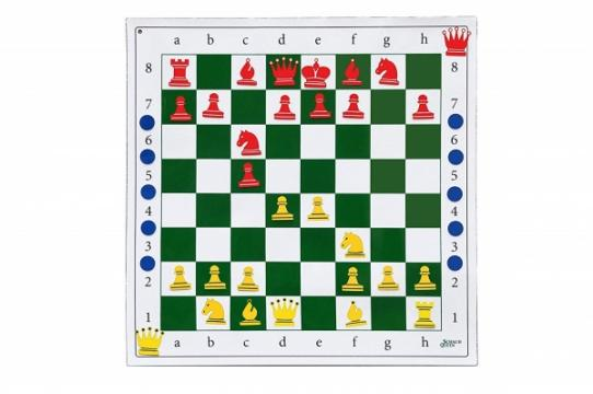 Tabla sah de demonstratie autoadeziva, rulabila, didactica de la Chess Events Srl
