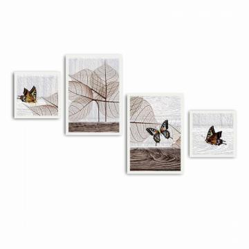 Tablou decorativ Wallity, 4 piese de la Esin Group Logistic Srl