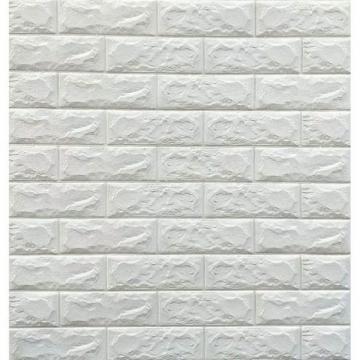 Tapet autoadeziv 3D alb design perete modern caramida