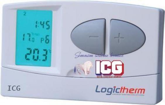 Termostat de ambient programabil Logictherm C7 cu fir de la ICG Center