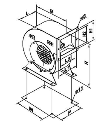 Ventilator centrifugal VCUN 280x127-1.5-6