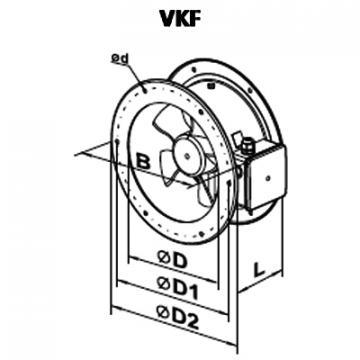 Ventilator axial VKF 4E 550