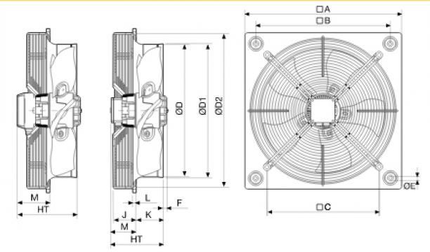 Ventilator axial HXBR/6-450
