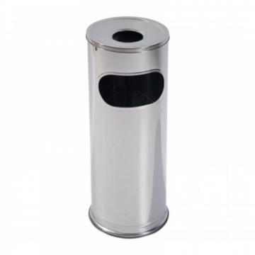Cos de gunoi 2in1, gunoi si scrumiera, inox, 20 litri