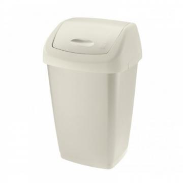 Cos gunoi plastic alb Durapol, 25 L