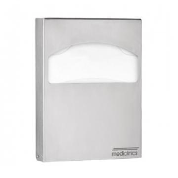 Dispenser acoperitoare colac WC, inox satinat, Mediclinics