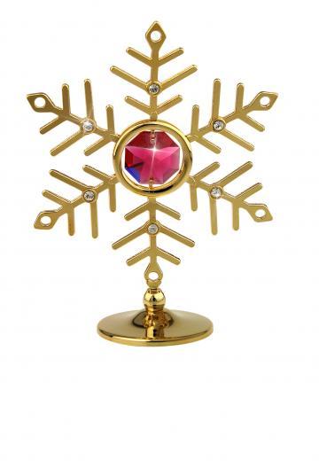 Figurina Fulg de nea cu 7 cristale Swarovski de la Luxury Concepts Srl