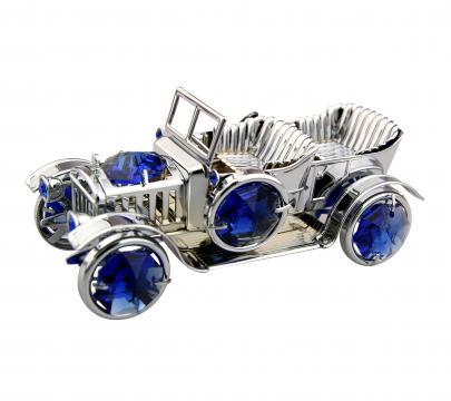 Figurina metalica Masinuta cu cristale Swarovski