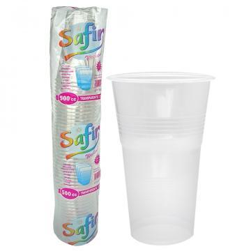 Pahare plastic 500 CC, 50 buc/set
