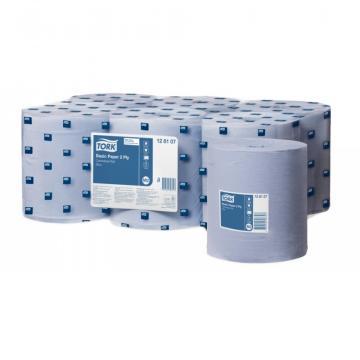 Prosop derulare centrala albastru 2 pliuri 150 m Tork de la Sanito Distribution Srl