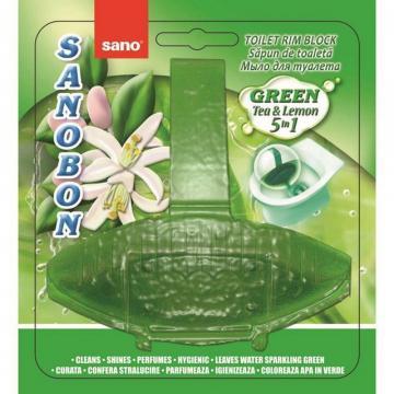 Odorizant vas toaleta Sano Bon Green Forest 5 in 1, 55g de la Sanito Distribution Srl