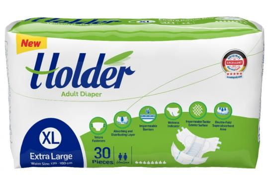 Scutece adulti Holder, marimea XL - XLarge, 60 buc/set