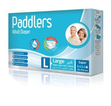 Scutece adulti Paddlers, marimea L - Large, 120 buc/set