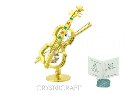 Figurina Vioara cu cristale Swarovski